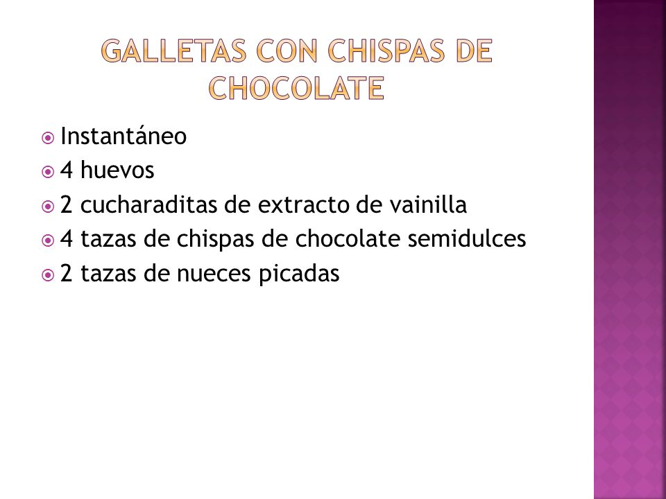 Galletas con chispas de chocolate