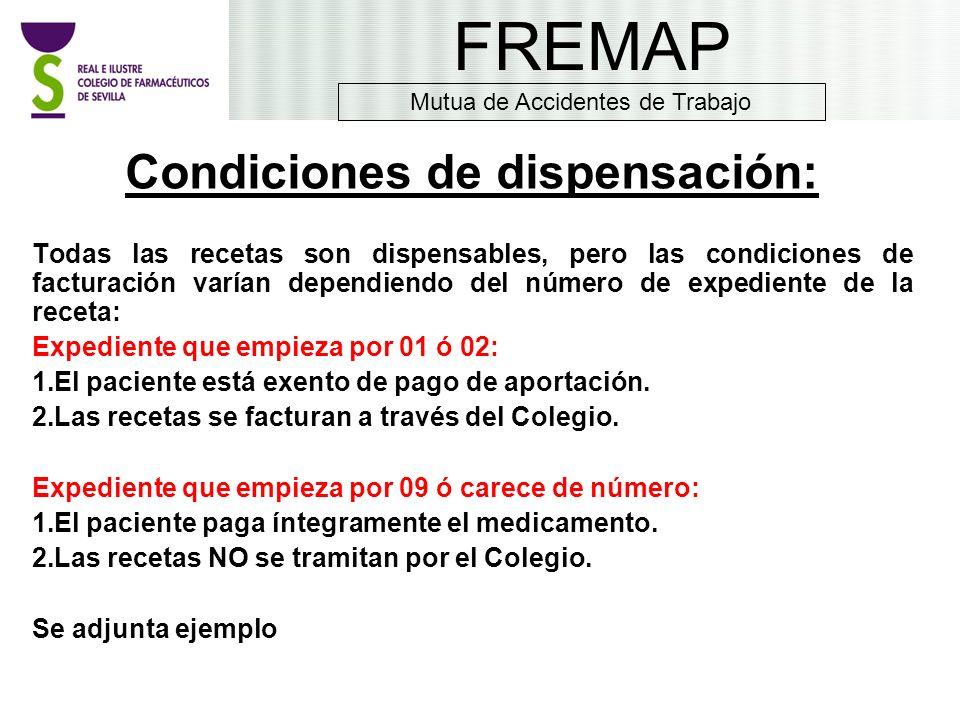 Condiciones de dispensación: