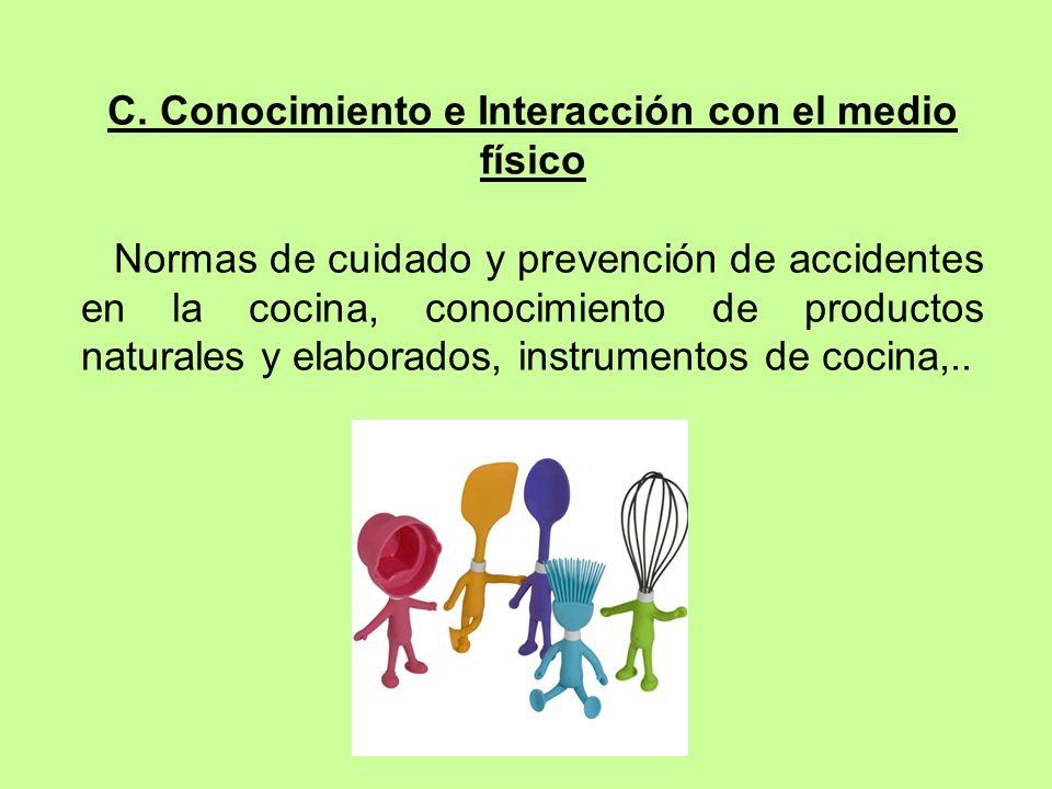 C. Conocimiento e Interacción con el medio físico