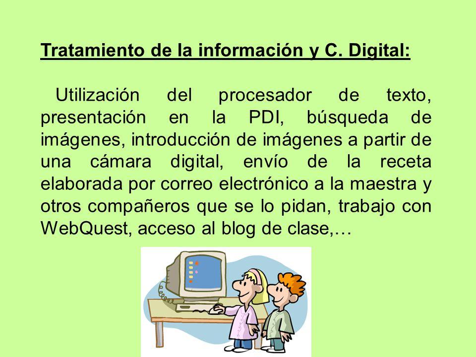 Tratamiento de la información y C. Digital: