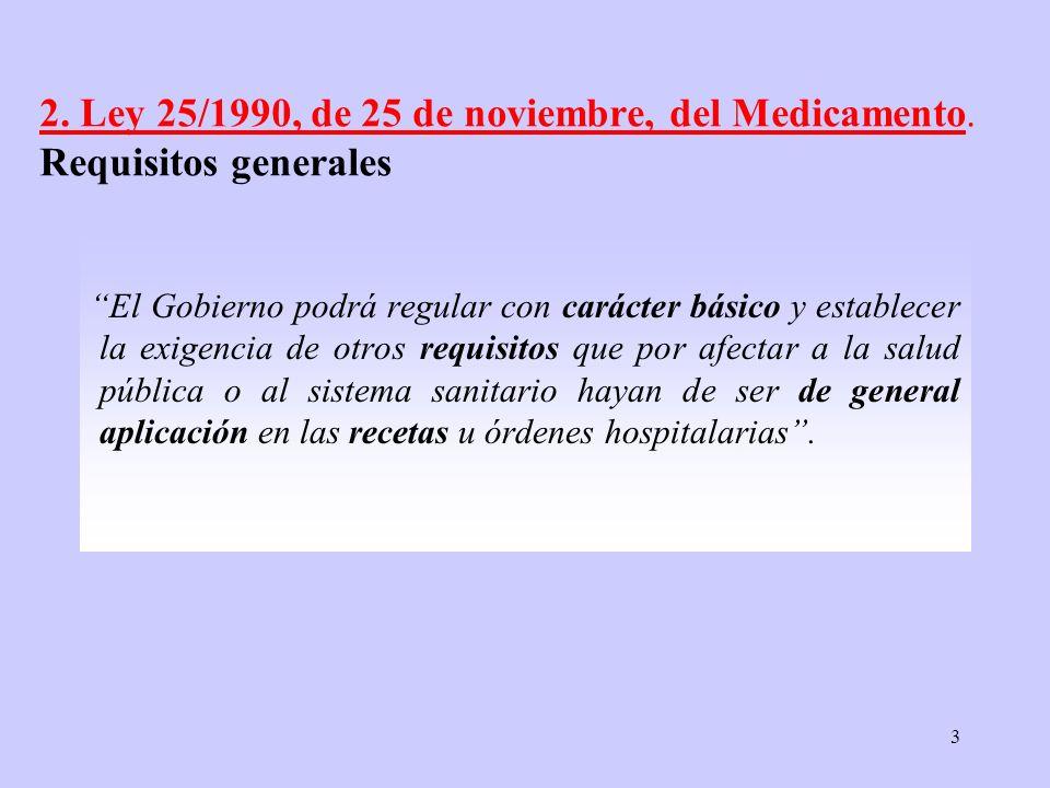 2. Ley 25/1990, de 25 de noviembre, del Medicamento