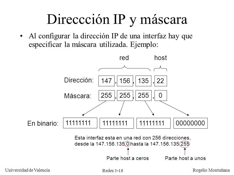 Direccción IP y máscara
