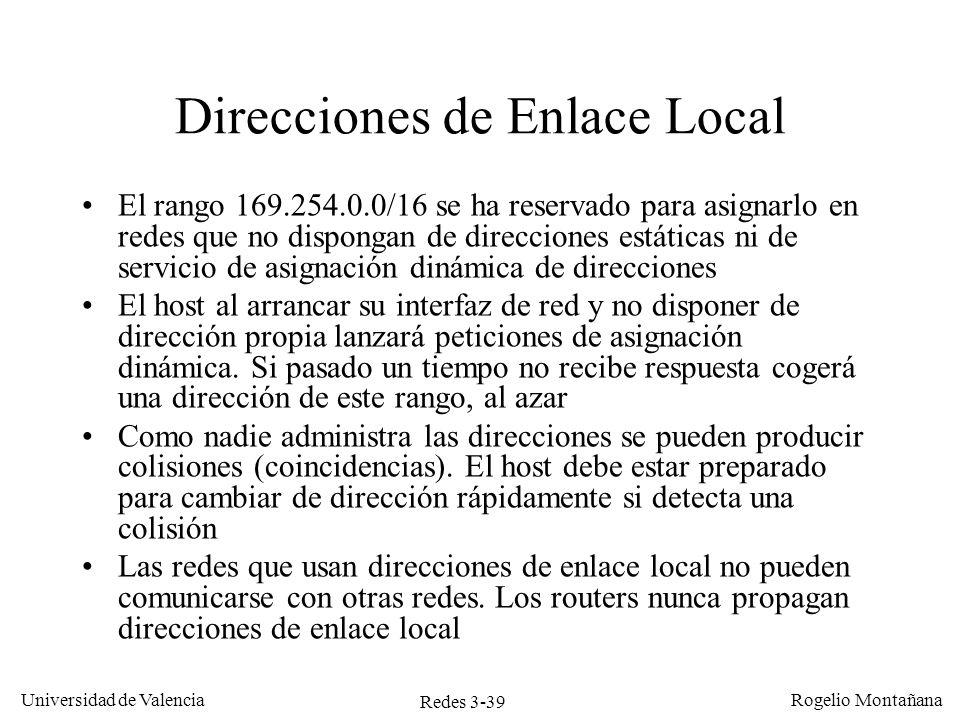 Direcciones de Enlace Local