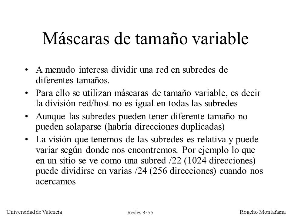 Máscaras de tamaño variable