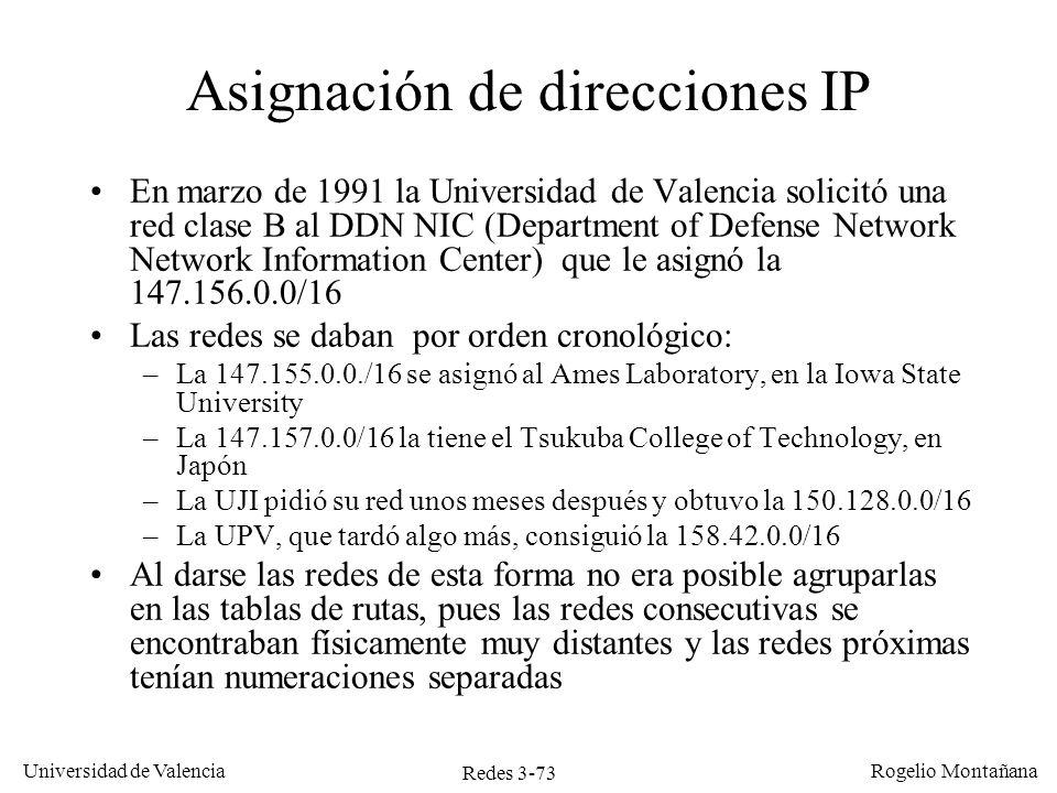 Asignación de direcciones IP