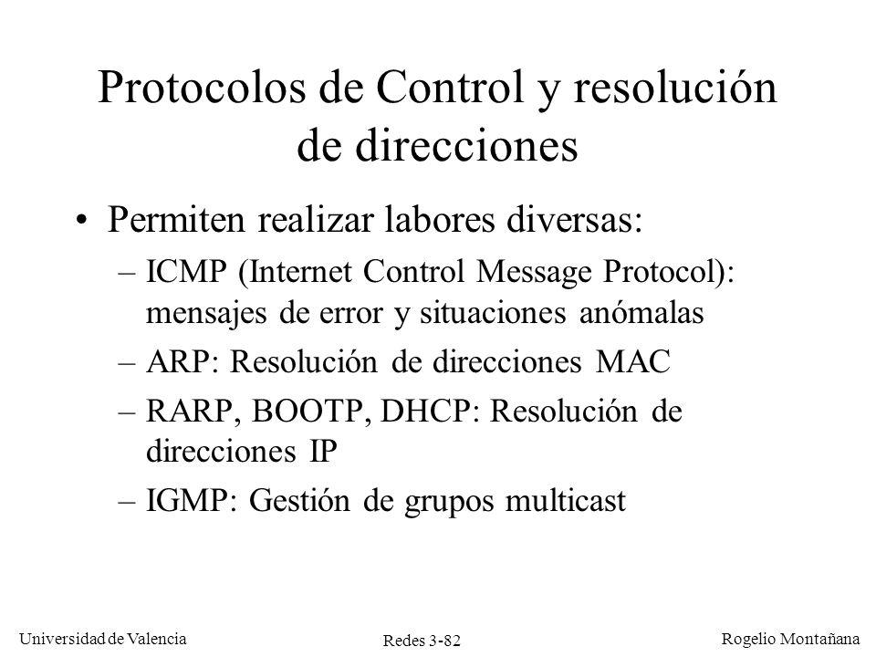 Protocolos de Control y resolución de direcciones