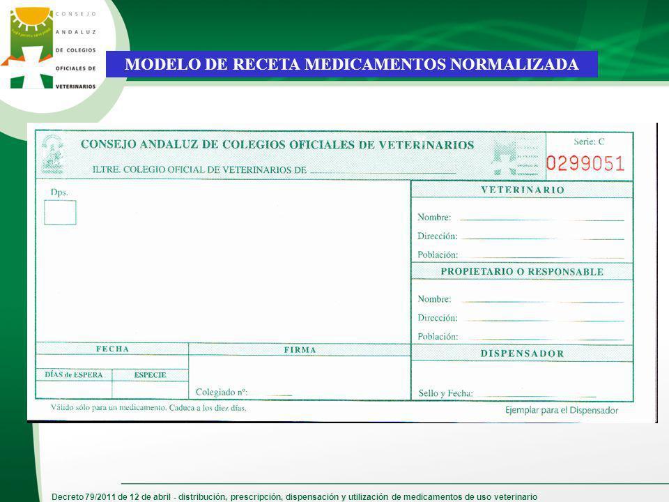 MODELO DE RECETA MEDICAMENTOS NORMALIZADA
