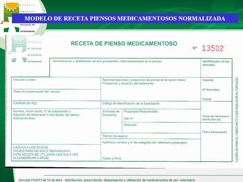 MODELO DE RECETA PIENSOS MEDICAMENTOSOS NORMALIZADA