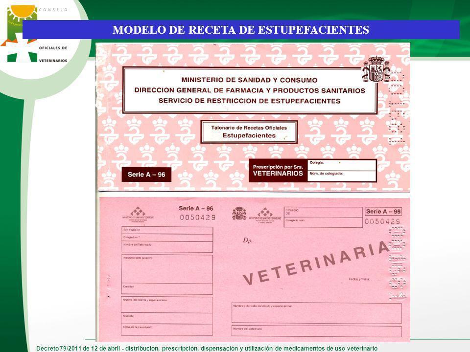 MODELO DE RECETA DE ESTUPEFACIENTES