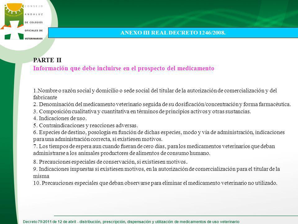 ANEXO III REAL DECRETO 1246/2008.