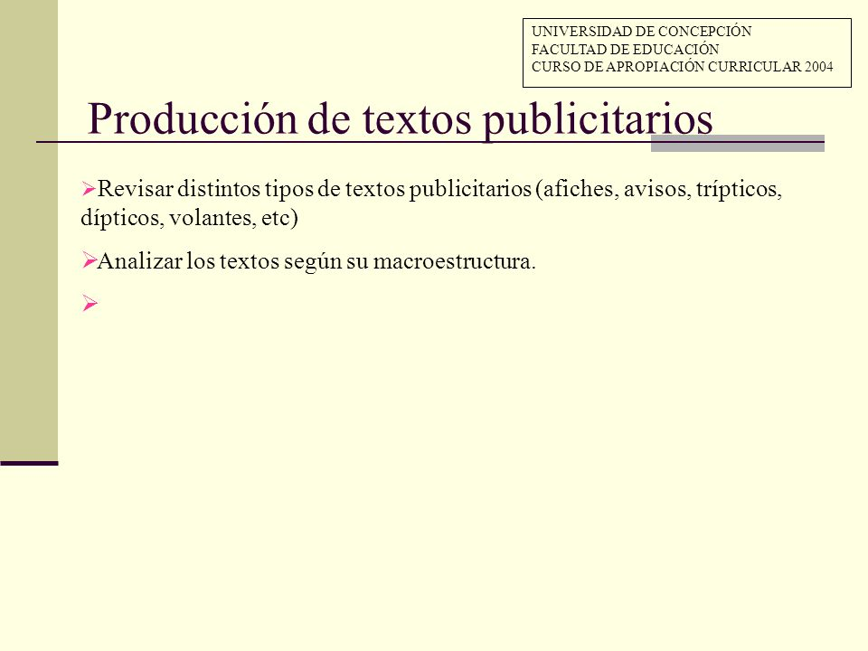 Producción de textos publicitarios