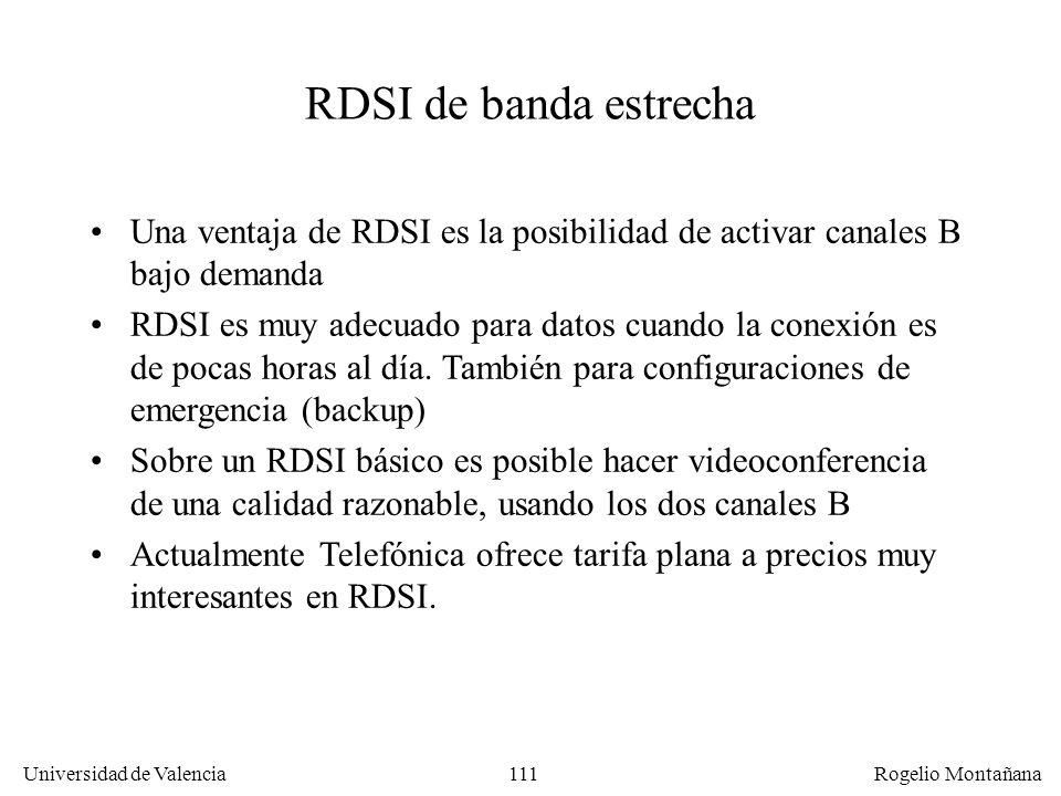 La Capa Física RDSI de banda estrecha. Una ventaja de RDSI es la posibilidad de activar canales B bajo demanda.