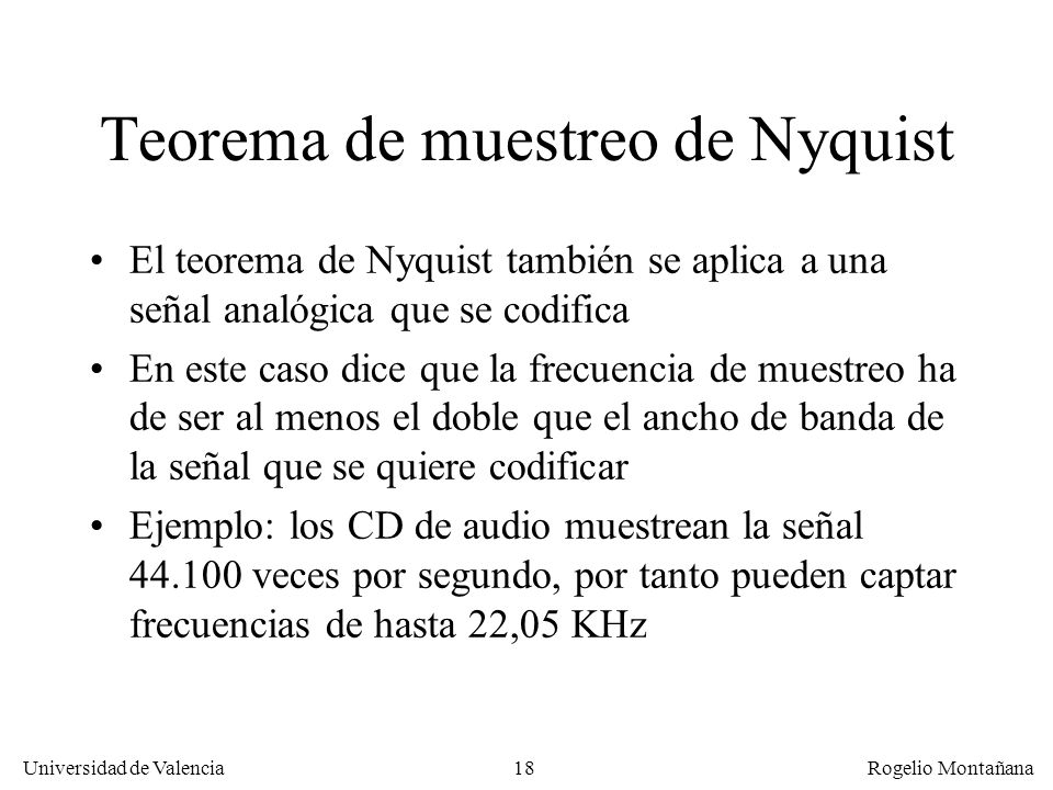 Teorema de muestreo de Nyquist