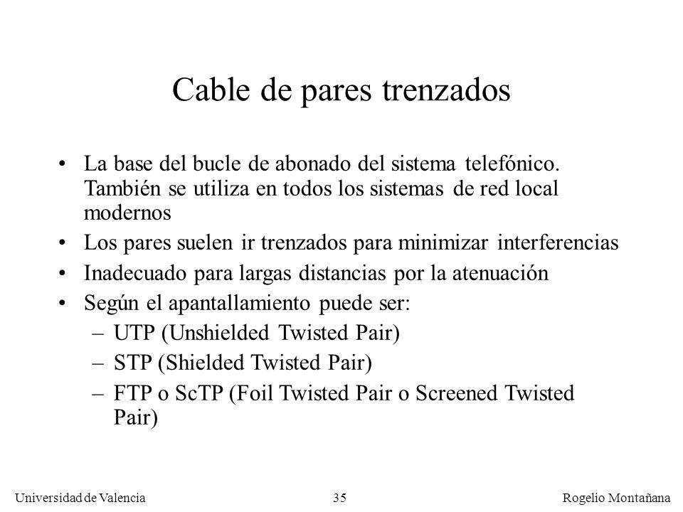 Cable de pares trenzados