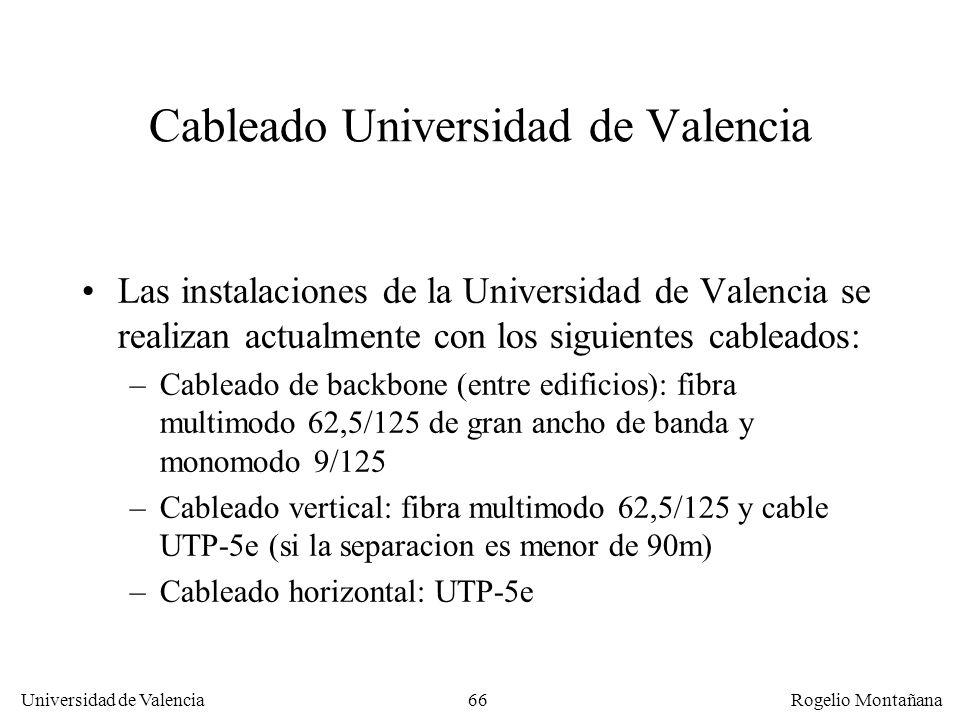 Cableado Universidad de Valencia