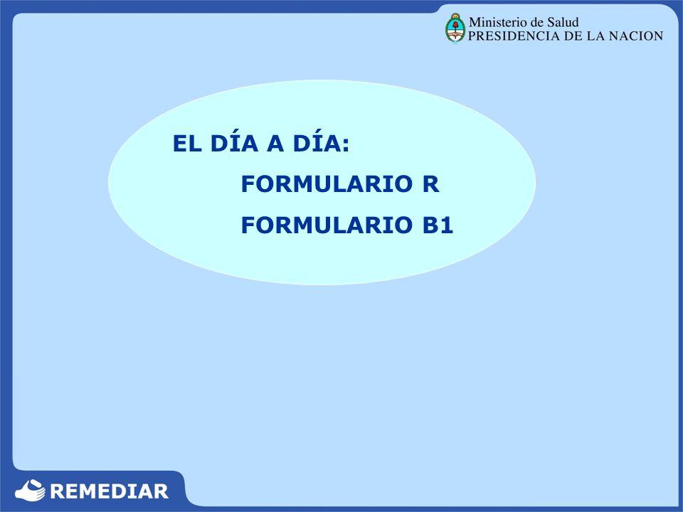EL DÍA A DÍA: FORMULARIO R FORMULARIO B1