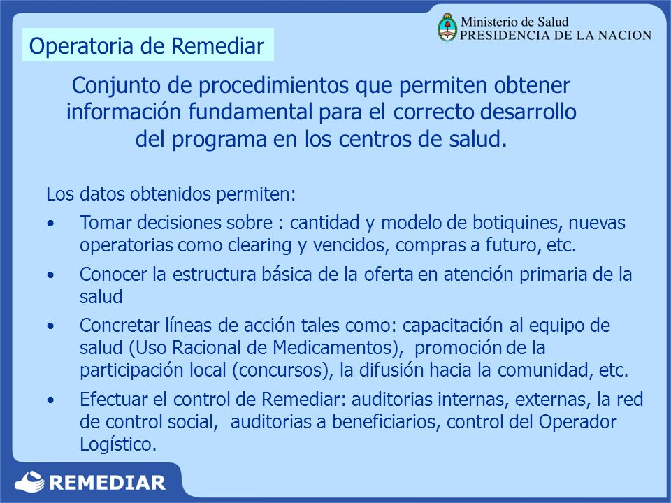 Operatoria de Remediar