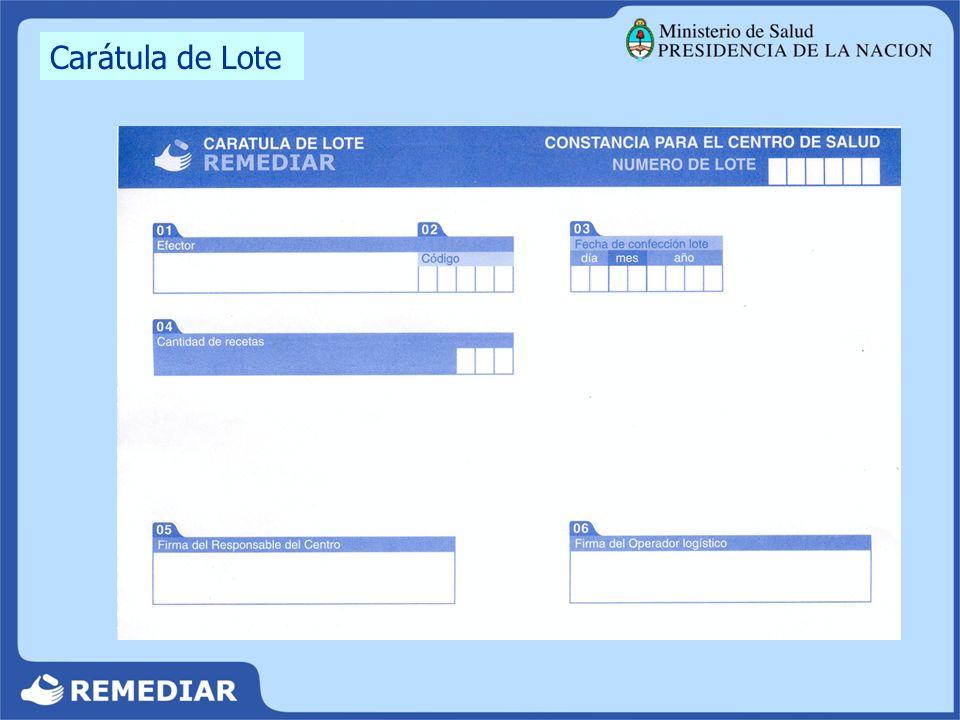Carátula de Lote