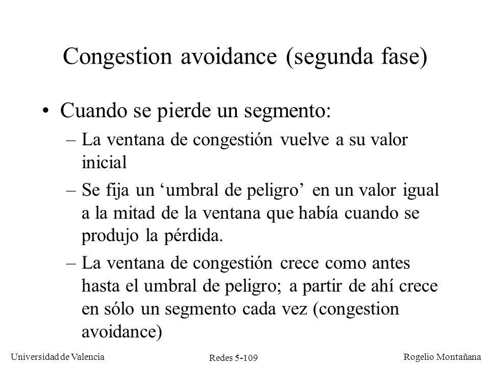 Congestion avoidance (segunda fase)
