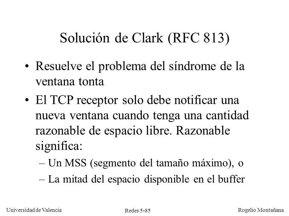 Solución de Clark (RFC 813)