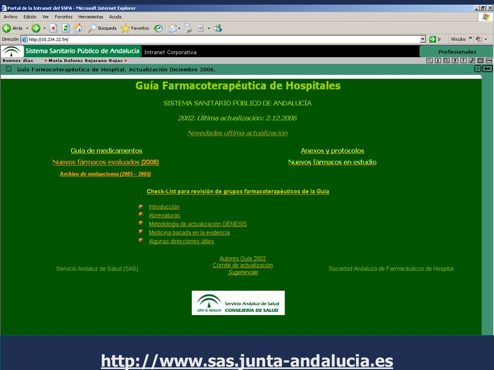 http://www.sas.junta-andalucia.es