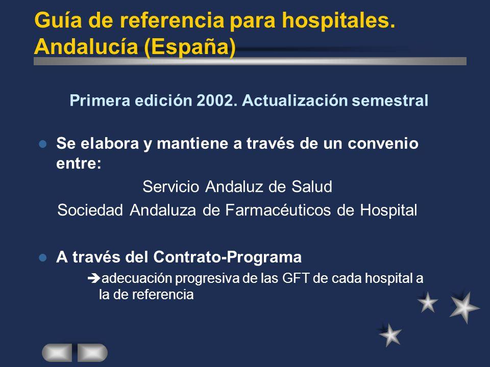 Guía de referencia para hospitales. Andalucía (España)