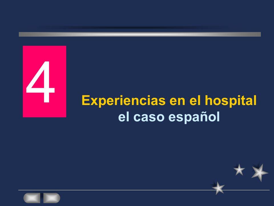 Experiencias en el hospital el caso español