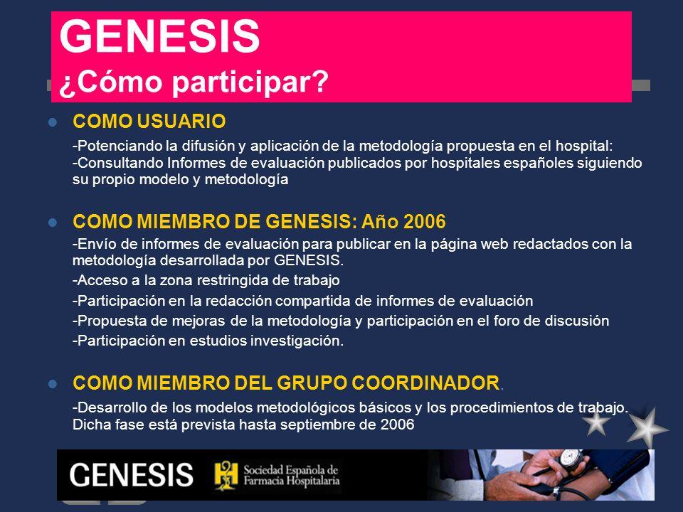 GENESIS ¿Cómo participar