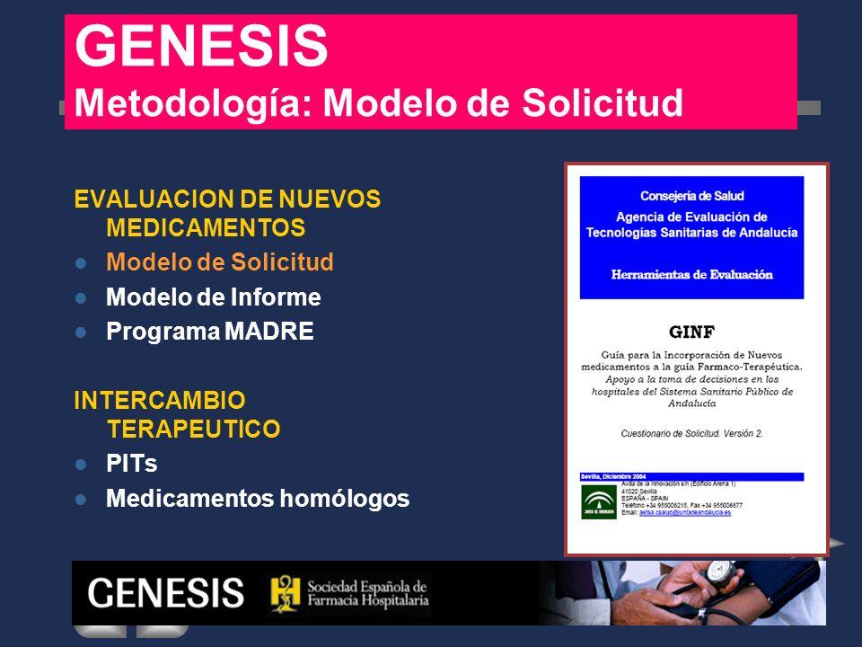 GENESIS Metodología: Modelo de Solicitud