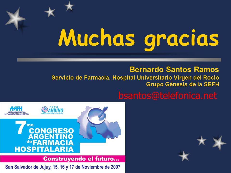 Muchas gracias bsantos@telefonica.net Bernardo Santos Ramos