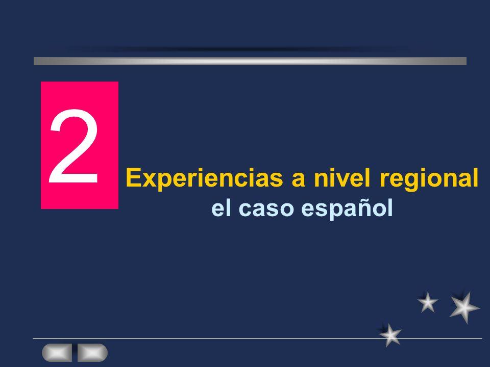 Experiencias a nivel regional el caso español