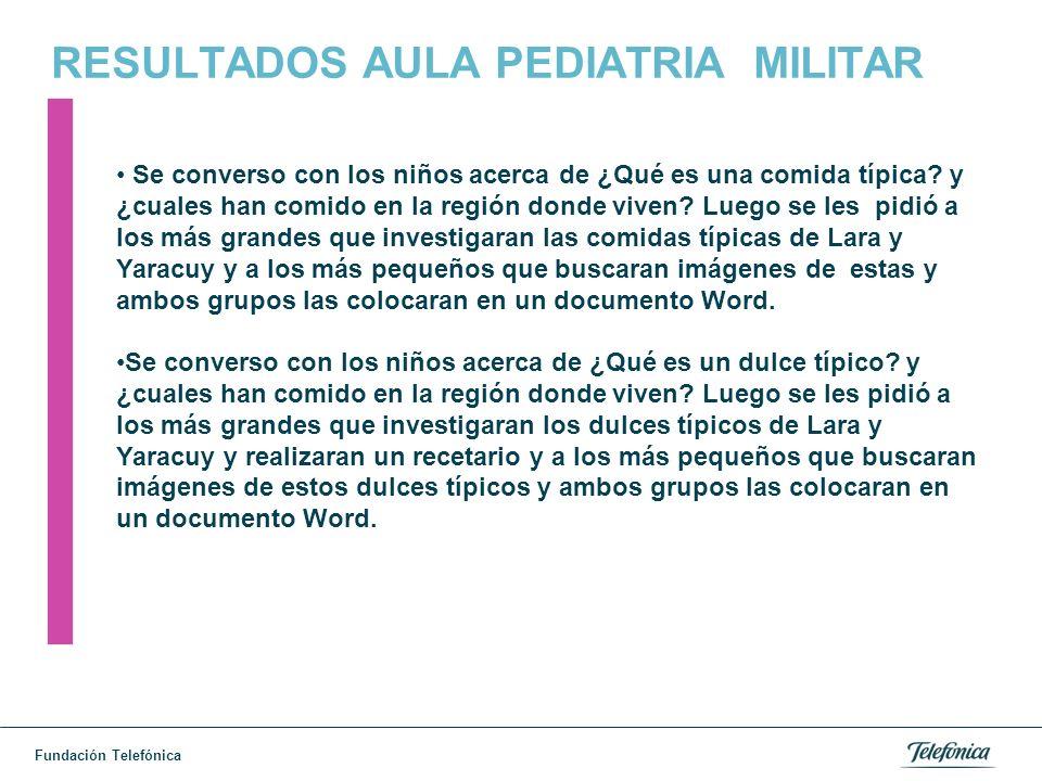 RESULTADOS AULA PEDIATRIA MILITAR