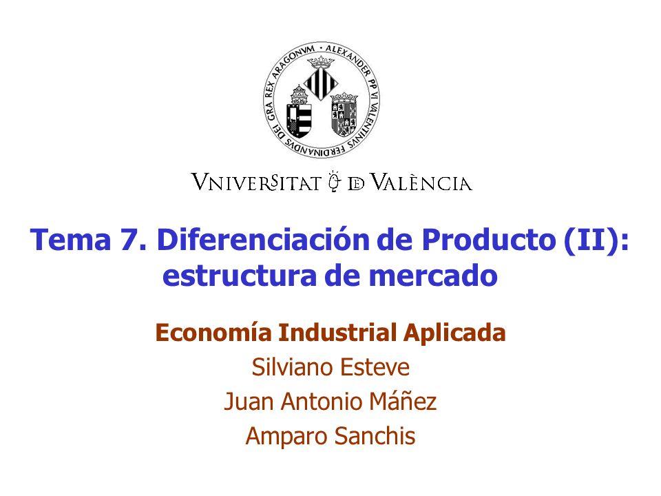 Tema 7. Diferenciación de Producto (II): estructura de mercado