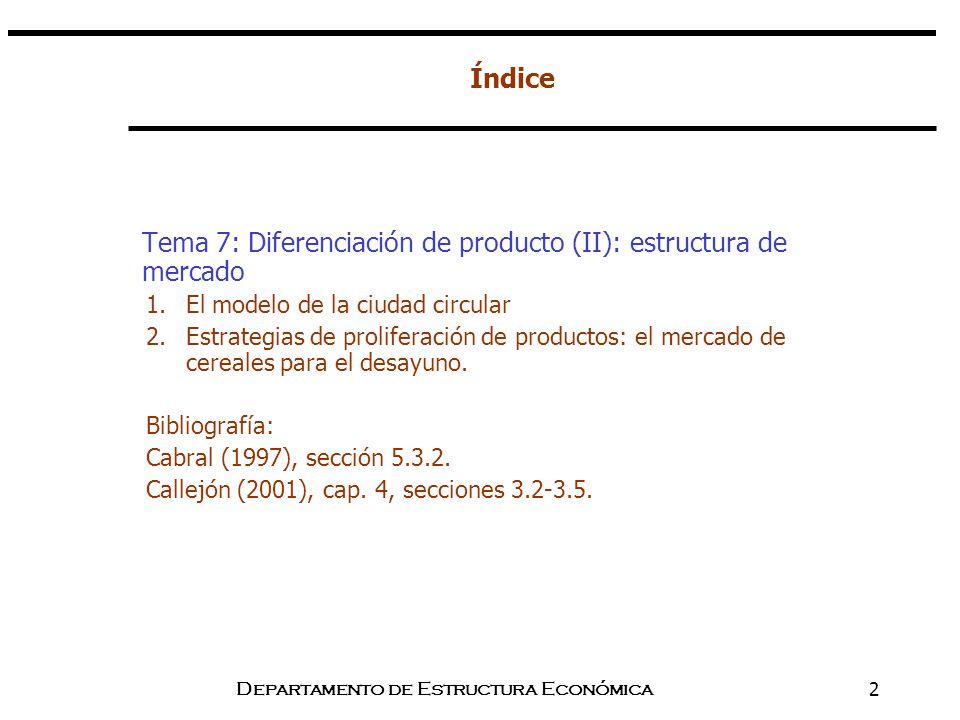 Departamento de Estructura Económica