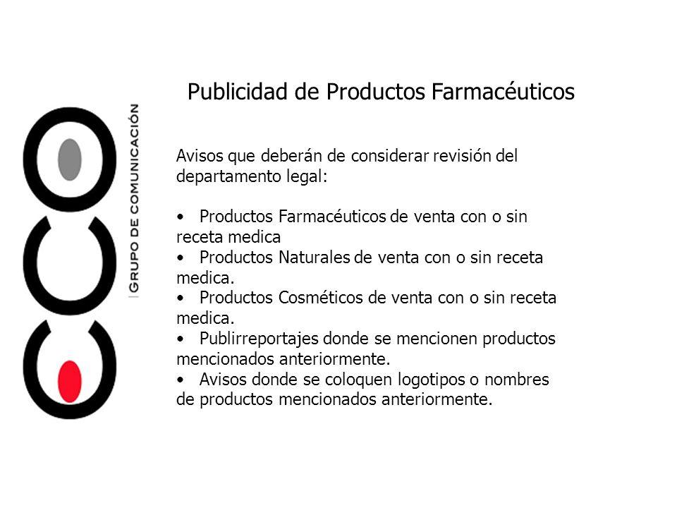 Publicidad de Productos Farmacéuticos