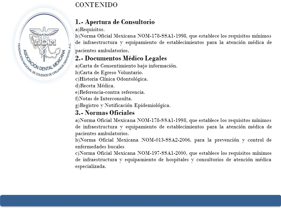 1.- Apertura de Consultorio