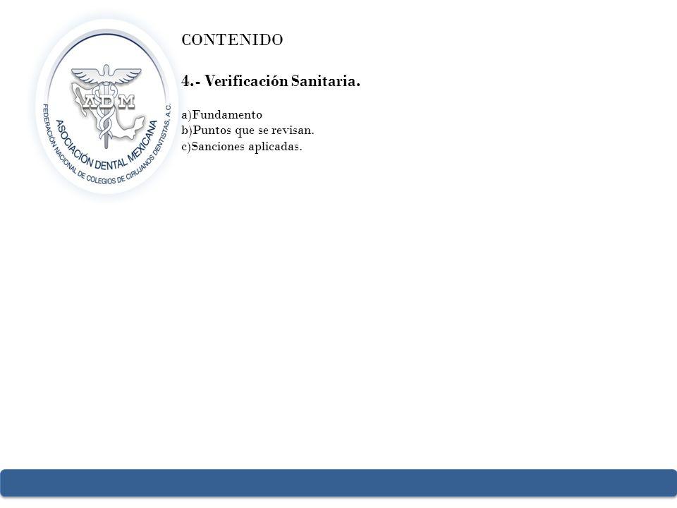 4.- Verificación Sanitaria.