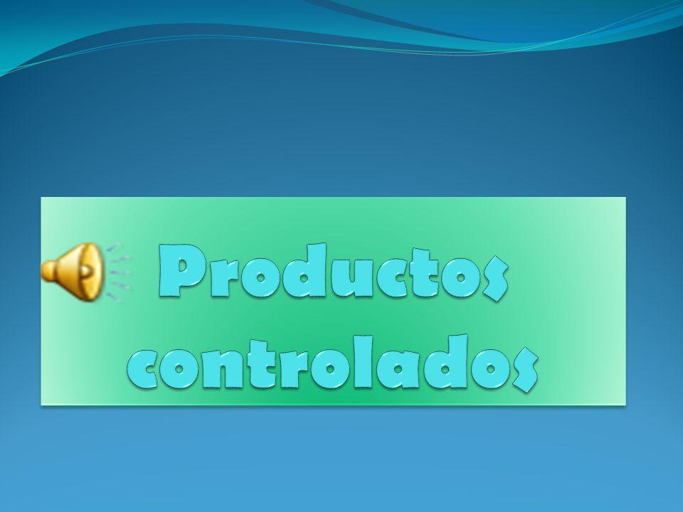 Productos controlados