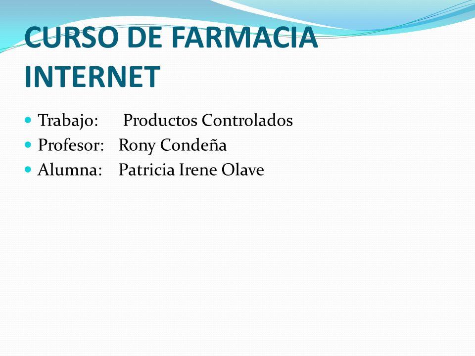 CURSO DE FARMACIA INTERNET