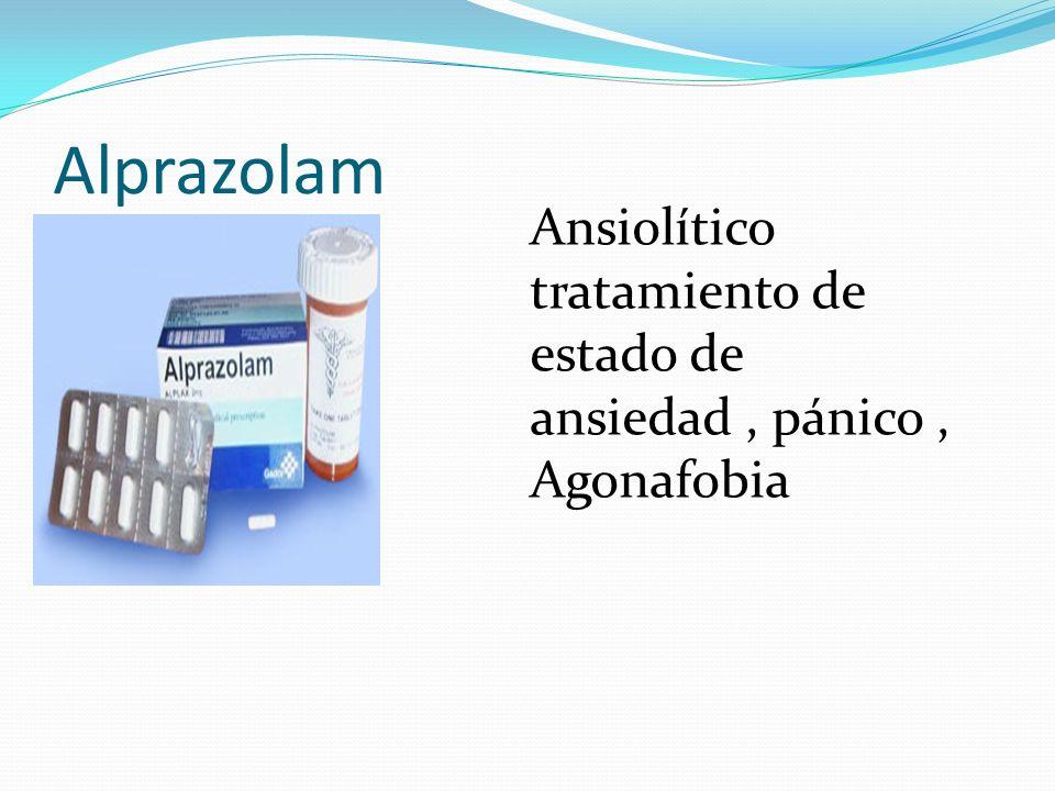 Alprazolam Ansiolítico tratamiento de estado de ansiedad , pánico , Agonafobia