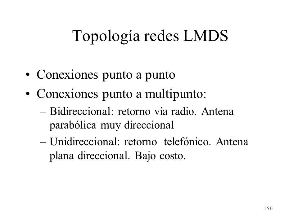 Topología redes LMDS Conexiones punto a punto