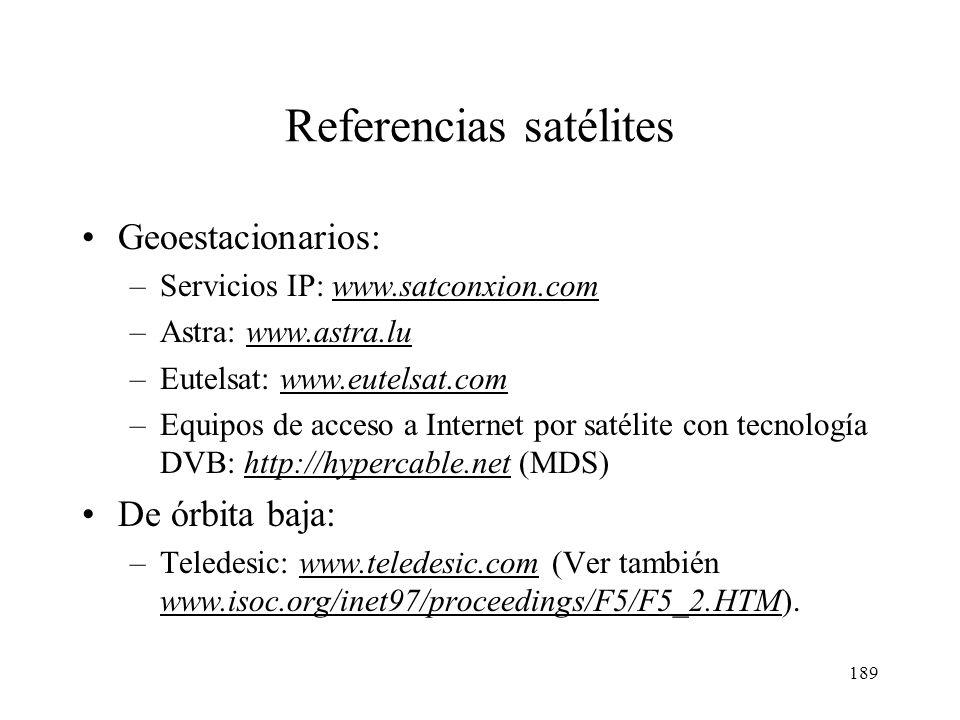 Referencias satélites