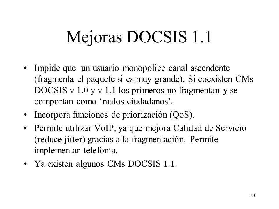 Mejoras DOCSIS 1.1
