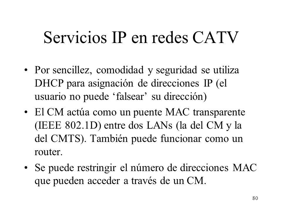 Servicios IP en redes CATV