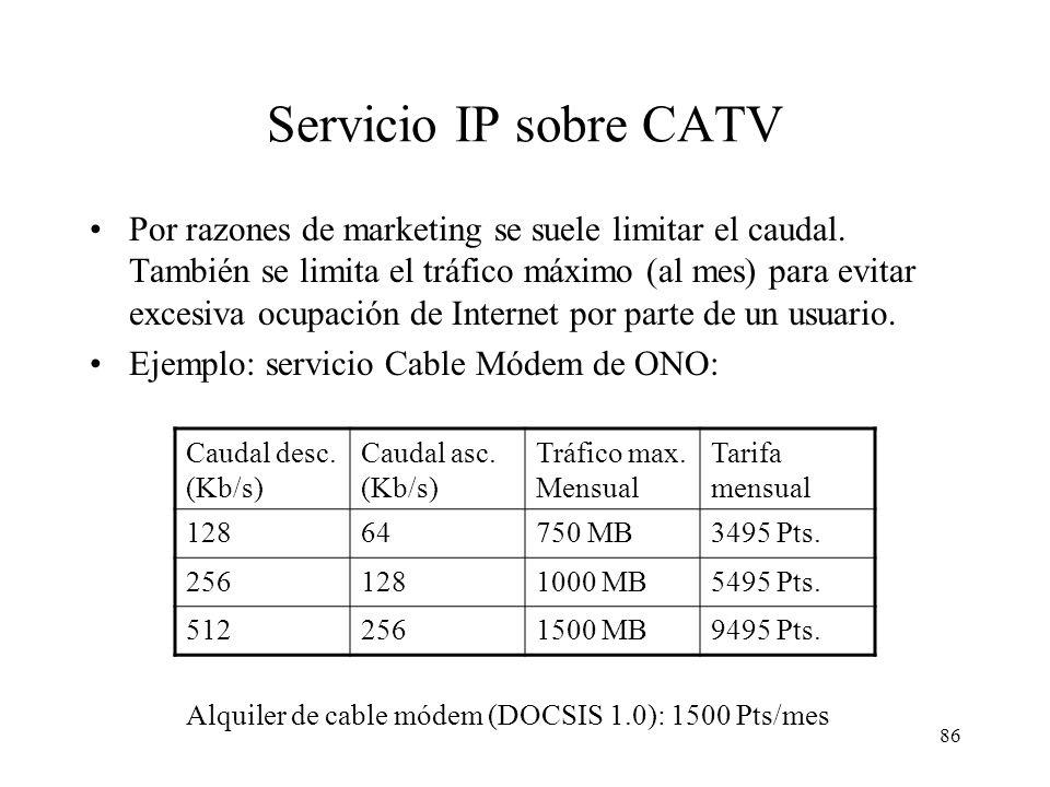 Servicio IP sobre CATV