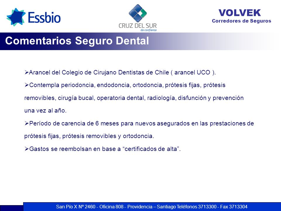 Comentarios Seguro Dental