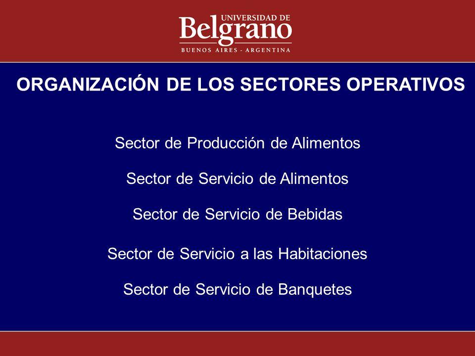 ORGANIZACIÓN DE LOS SECTORES OPERATIVOS