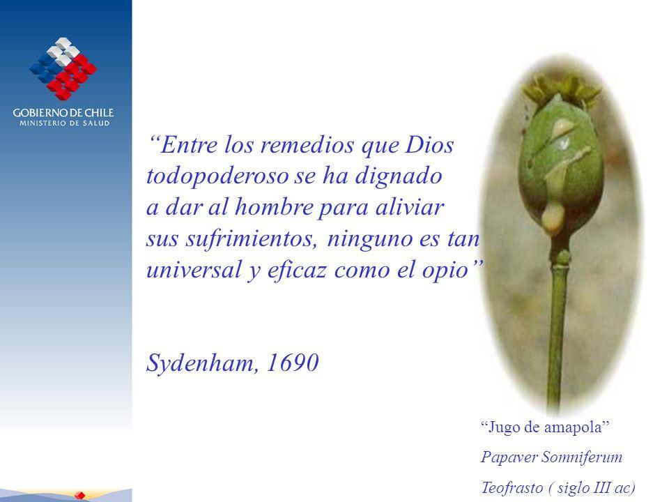 Entre los remedios que Dios todopoderoso se ha dignado a dar al hombre para aliviar sus sufrimientos, ninguno es tan universal y eficaz como el opio