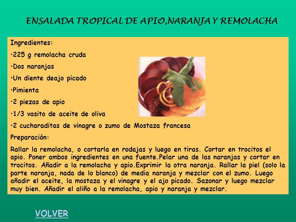 ENSALADA TROPICAL DE APIO,NARANJA Y REMOLACHA