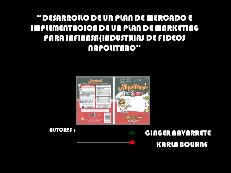 DESARROLLO DE UN PLAN DE MERCADO E IMPLEMENTACION DE UN PLAN DE MARKETING PARA INFINASA(INDUSTRIAS DE FIDEOS NAPOLITANO
